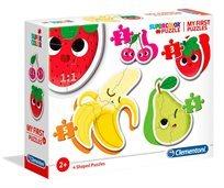 4 פאזלים בקופסא - פירות