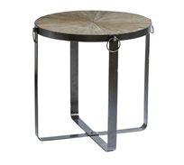 שולחן עגול מתקפל עשוי עץ עם רגלי מתכת בגדלים לבחירה