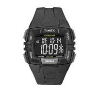 שעון דיגיטלי מלבני לגברים עם סטופר וטיימר בצבע שחור