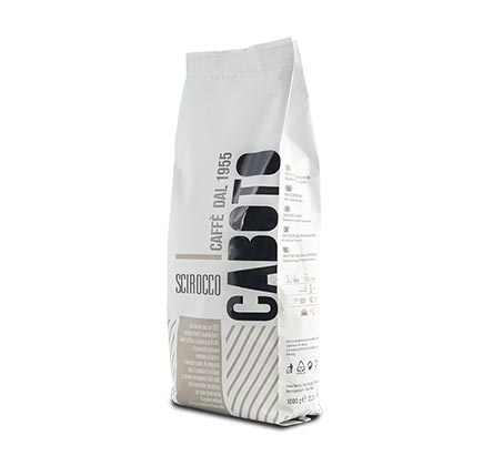 """1 ק""""ג פולי קפה מדגם סקירוקו מאיטליה"""