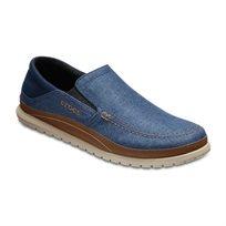 Crocs Santa Cruz Playa Slip-On - נעלי ספורט אלגנט קרוקס לגברים מבד קנבס בצבע נייביחום