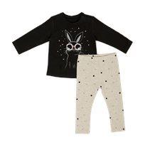 חליפת גן Minene לתינוקות (12-24 חודשים) Rabbit אפור עכבר