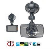 מצלמת רכב איכותית עד 1080P כולל צג ענק 2.7 אינץ' ויציאת HDMI צילום מספרי רכב באופן חד וברור כולל GS