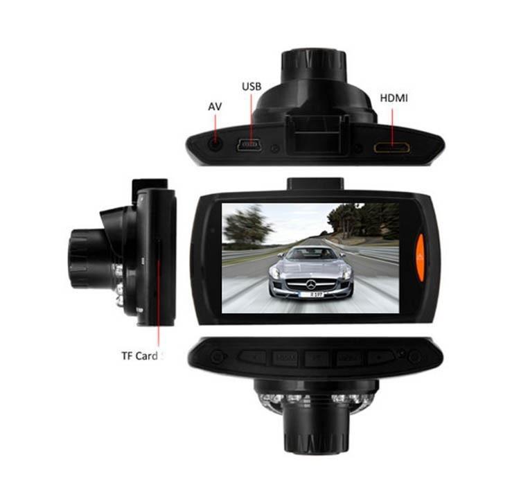 מצלמת רכב איכותית עד 1080P כולל צג ענק 2.7 אינץ' ויציאת HDMI צילום מספרי רכב באופן חד וברור כולל GS - תמונה 3