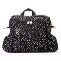 תיק החתלה גיטה- Gitta Ideal שחור עם כוכבי כסף