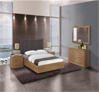 סט ריהוט לחדר השינה עם מיטה שידות ומראה דגם אוראל
