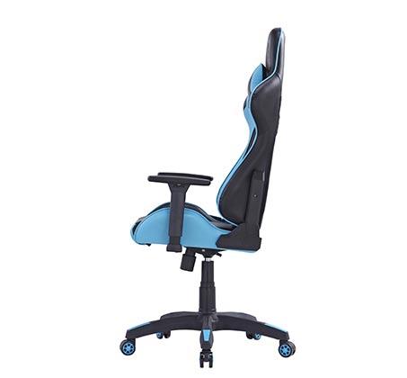 כיסא גיימרים DRAGON GAME CHAIR CEASAR BLUE כולל ציפוי כרית מבד מתנה - תמונה 3