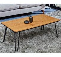 שולחן סלון מודרני מעץ בשילוב ברזל שחור דגם MADRID