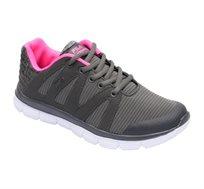 נעלי ספורט לנשים ונוער FILA דגם Aurele - אפור כהה וורוד פוקסיה