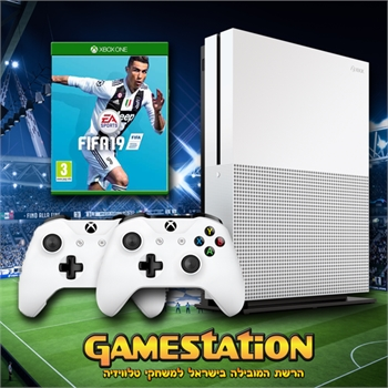 """Xbox One S 1T Pal חבילת פיפ""""א 19"""