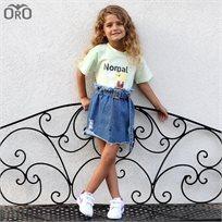 חולצת Oro לילדות (מידות 2-7 שנים) אקונומיקה ירוק