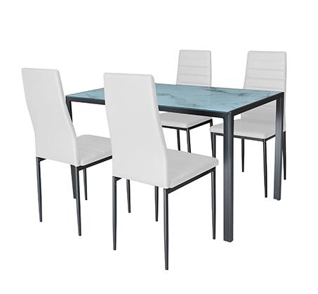 פינת אוכל כולל 4 כיסאות דגם לוגאנו Homax