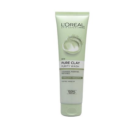 מארז 3 יחידות תרחיץ חימר לטיהור העור לוריאל Pure Clay purity Wash