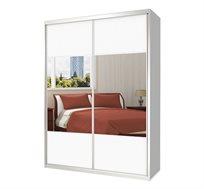 ארון 2 דלתות הזזה עם מראה בעל מדפי אחסון ומוטות תלייה כרמל ארונות במבחר צבעים וגדלים