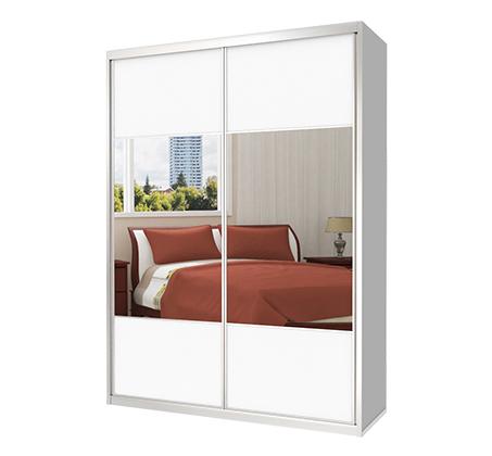 ארון הזזה 2 דלתות מראה בשילוב מלמין דגם MTD במבחר צבעים וגדלים