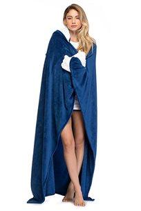 שמיכת PILPEL לנשים דגם פילפילון בצבע כחול