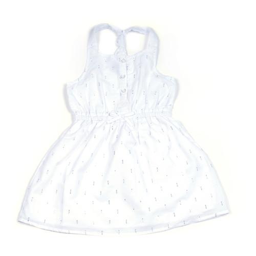 Nautica / נאוטיקה (5-2 שנים) שמלה- לבן כסף