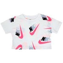 חולצה נייקי קצרה לבנה לפעוטות - NIKE FUTURA GRAPHIC CROP WHITE