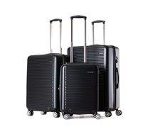 סט 3 מזוודות קשיחות דגם TUSTIN במגוון צבעים לבחירה
