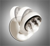 מנורת פרוז'קטור LED עוצמתית בעלת 7 נורות עם חיישן תנועה ואור, מתכווננת 360 מעלות ועמידה בכל מזג אויר