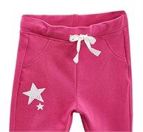 מכנס כותנה סטרצ'י OVS לילדות עם כוכבים נוצצים בצבע ורוד