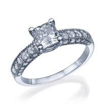 """טבעת יהלומים  וינטאג' """"אווה-פרינסס"""" 1.78 קראט"""