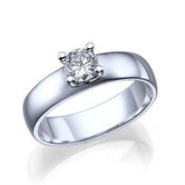 """טבעת אירוסין זהב לבן """"קלואי"""" 0.41 קראט"""