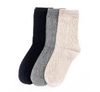מארז 3 זוגות גרביים באורך קלאסי