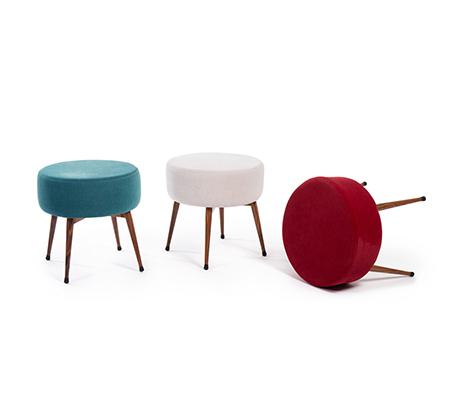 כיסא הדום מעוצב לכל חדרי הבית דגם OTTO במגוון צבעים לבחירה מבית BRADEX - תמונה 2
