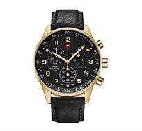 שעון כרונוגרף שוויצרי לגבר מבית SWISS MILITARY עשוי פלדת אל חלד