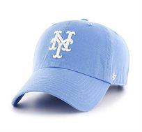 כובע ניו-יורק יאנקיז - תכלת פסטל סמל לבן