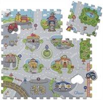 פאזל רצפה 9 חלקים עיר וכבישים