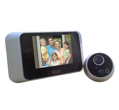 מצלמת עינית לדלת עם צג LCD צבעוני, מתאים לכל סוגי הדלתות כולל רב בריח
