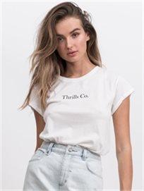Thrills נשים // Class Tee White