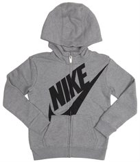 NIKE ילדים קטנים // FUTURA FLEECE FULL ZIP HOODIE GRAY