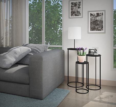 שלישיית שולחנות מדורגים המתאימים למגוון שימושים בבית במראה מודרני ועדכני דגם סורנטו RAZCO - משלוח חינם - תמונה 2