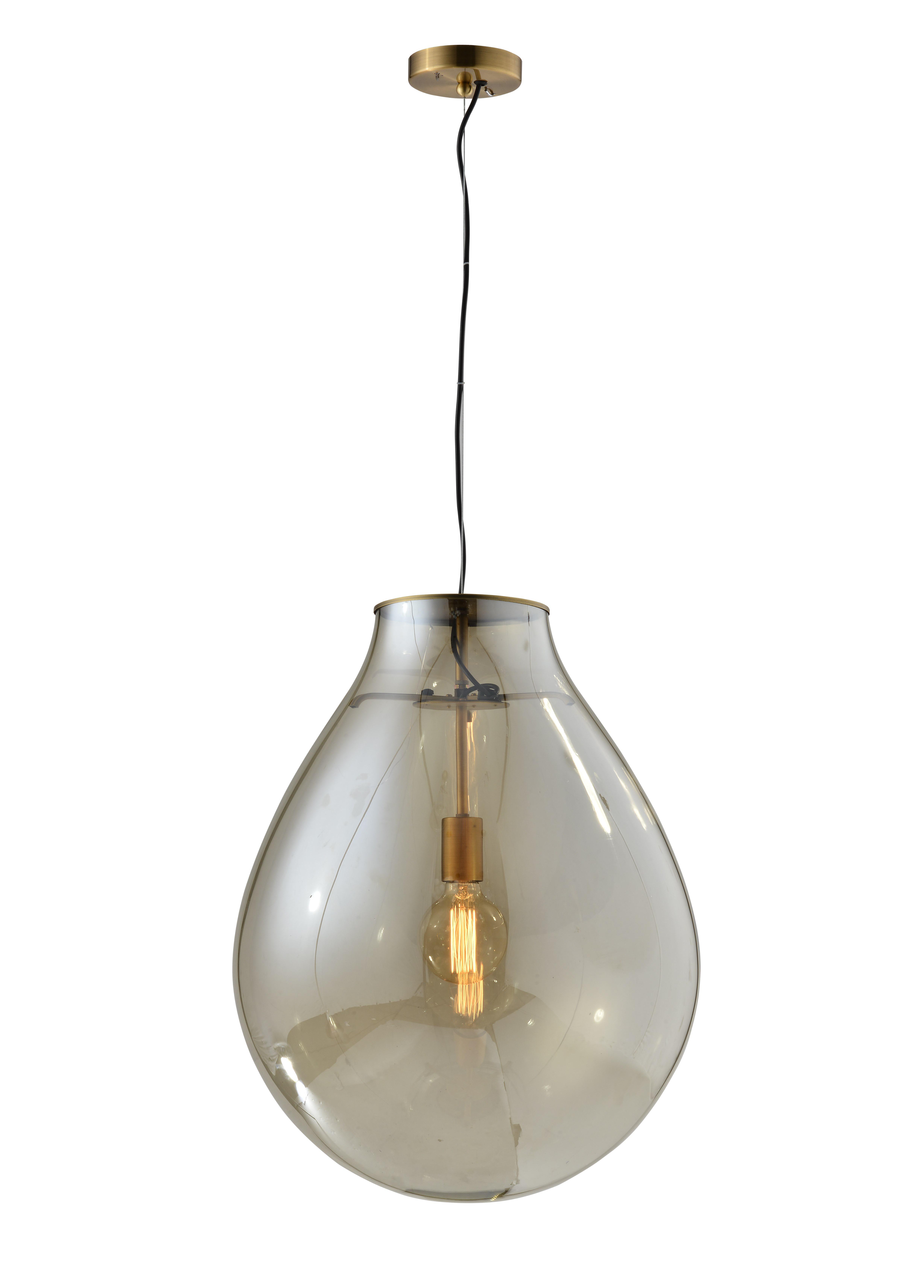 מנורת תליה פרגי בגימור נחושת ביתילי