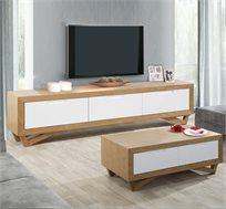 מערכת לסלון הכוללת סט מזנון ושולחן בעיצוב מודרני דגם יובל