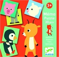 משחק זכרון - חיות השלמה - DJECO
