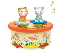 תיבת נגינה בובות מסתובבות - חתולים תאומים - Djeco