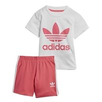 ADIDAS תינוקות// SHORT TEE SET WHITE/REAL PINK