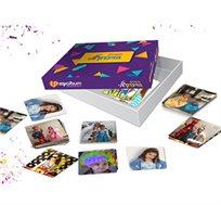 משחק הזיכרון מיוחד לפורים - 34 זוגות של כרטיסיות בעיצוב אישי