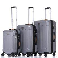 JEEP MIAMI סט 3 מזוודות קשיחות כסף