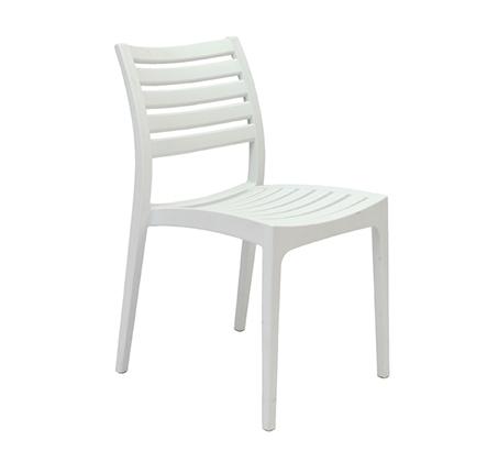 כסא פלסטיק לבית ולמרפסת דגם איריס במבחר גוונים לבחירה