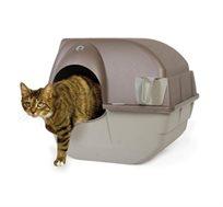 שירותים לחתול אומגה, מתנקים אוטומטית ומרכזים את הצרכים למגירה נשלפת