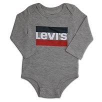 LEVIS תינוקות// LONG SLEEVE CREEPER GREY