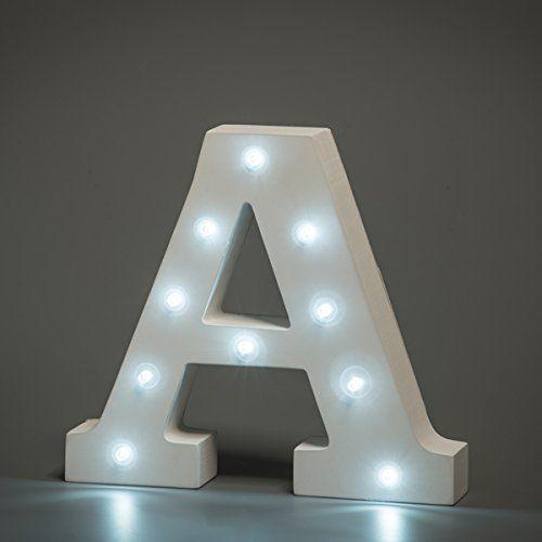 מנורת לילה עם תאורת לד Led מעוצבת בצורת האות A