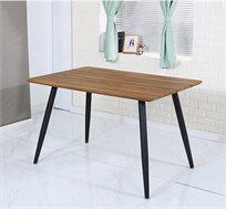 שולחן פינת אוכל מלבני עץ בשילוב רגלי מתכת