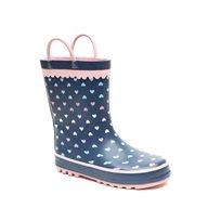 Candy Rain Boot - מגפי גשם קנדי לילדות בדוגמת לבבות