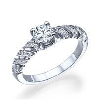 טבעת יהלומים זהב לבן מקולקציית הוינטאג' הייחודית